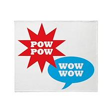 POWerful and WOWerful!  Kaboom! Throw Blanket
