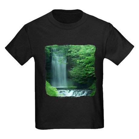 Waterfalls Kids Dark T-Shirt