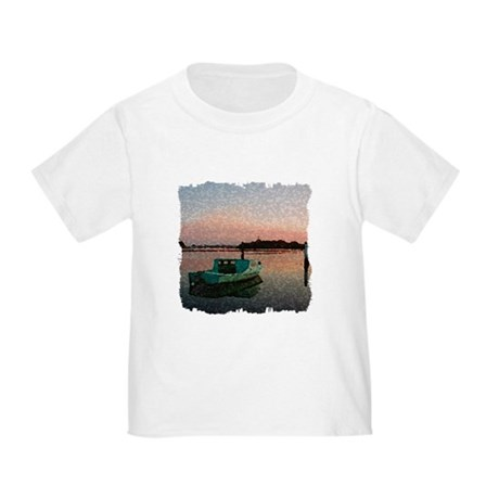 Sunset Boat Toddler T-Shirt