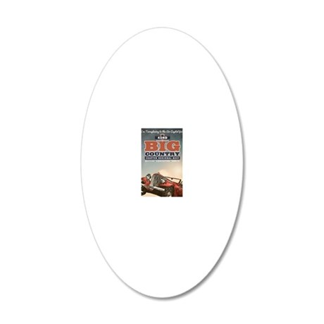 Big Country 20x12 Oval Wall Decal