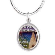 4th Annual Bowed Psaltery Sym Silver Oval Necklace