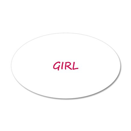I Ride Like a Girl 20x12 Oval Wall Decal