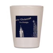 Merry Christmas from Philadelphia Shot Glass