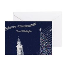 Merry Christmas from Philadelphia Greeting Card