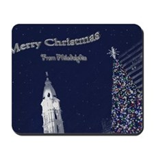 Merry Christmas from Philadelphia Mousepad