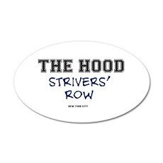THE HOOD - STRIVERS ROW - NE 35x21 Oval Wall Decal