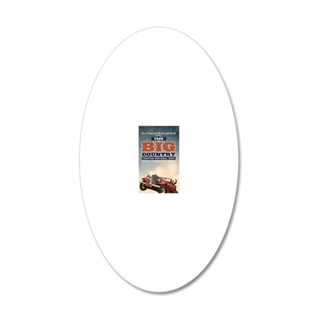 Hudson Magnet 6 20x12 Oval Wall Decal