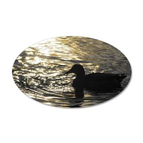 Golden Silhouette 35x21 Oval Wall Decal