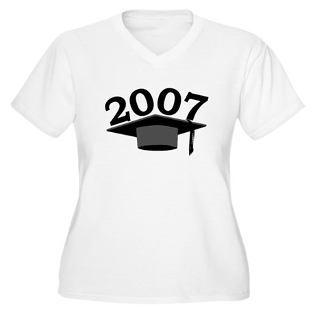 Graduation 2007 Women's Plus Size V-Neck T-Shirt
