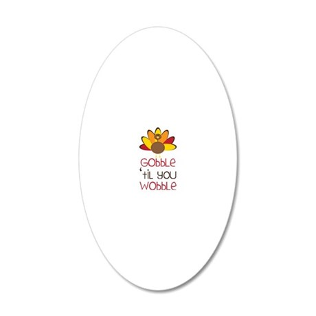 Gobble 20x12 Oval Wall Decal