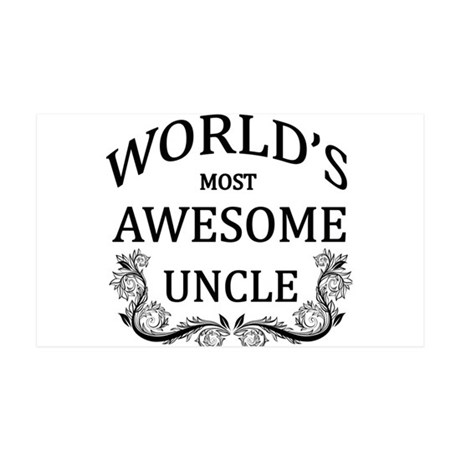 World's Most Awesome Uncle 35x21 Wall Decal