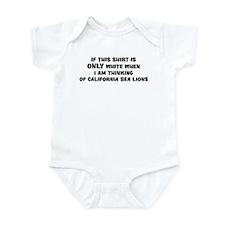 Thinking of California Sea Li Infant Bodysuit