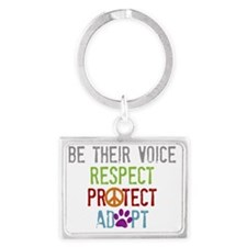 Be Their Voice Landscape Keychain
