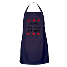 Athena Loves Mommy and Daddy Apron (dark)