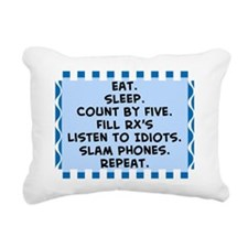 Pharmacist eat sleep bla Rectangular Canvas Pillow