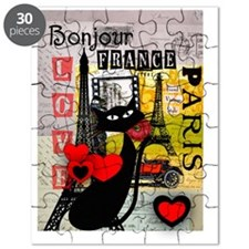 france cat cell case Puzzle