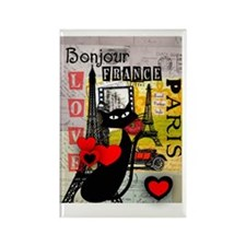 france cat cell case Rectangle Magnet