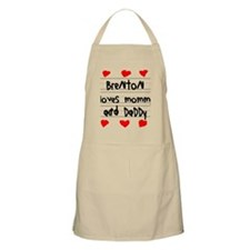 Brenton Loves Mommy and Daddy Apron
