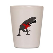 T-rex Playing the Guitar Shot Glass