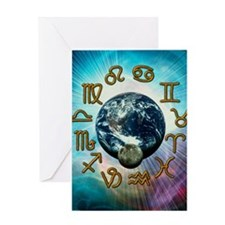 Computer artwork of the zodiac signs Greeting Card
