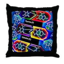 DNA molecule Throw Pillow