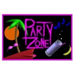 Party Zone Tropical Night Large Poster