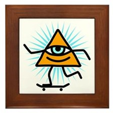 Pyramid eye skate god Framed Tile