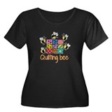 Quilting Bee Women's Plus Size Scoop Neck Dark T-S