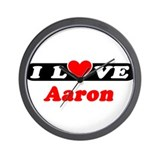I Love Aaron Wall Clock