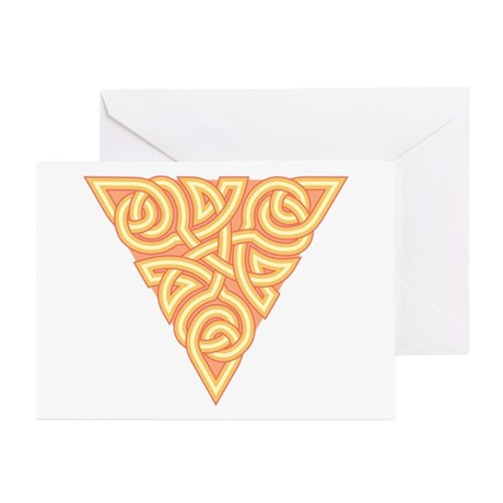 Sunny Triangle Knot Greeting Cards (Pk of 10)