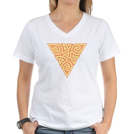 Sunny Triangle Knot Women's V-Neck T-Shirt