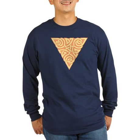 Sunny Triangle Knot Long Sleeve Dark T-Shirt
