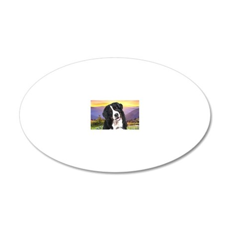 meadow(laptop) 20x12 Oval Wall Decal