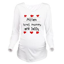 Miriam Loves Mommy a Long Sleeve Maternity T-Shirt