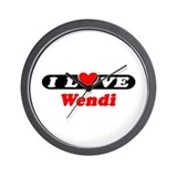 I Love Wendi Wall Clock