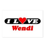 I Love Wendi Postcards (Package of 8)