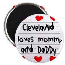 Cleveland Loves Mommy and Daddy Magnet