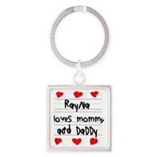 Rayna Loves Mommy and Daddy Square Keychain