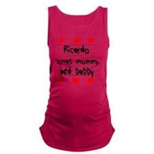Ricardo Loves Mommy and Daddy Maternity Tank Top