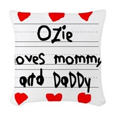 Ozie Loves Mommy and Daddy Woven Throw Pillow