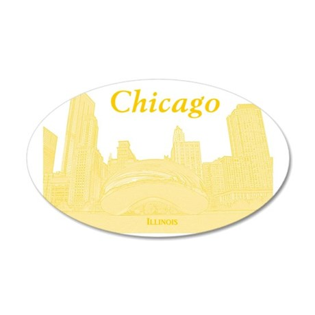 ChicagoBeanSkyline_Rectangle 35x21 Oval Wall Decal