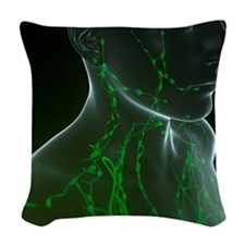 Lymphatic system, artwork Woven Throw Pillow