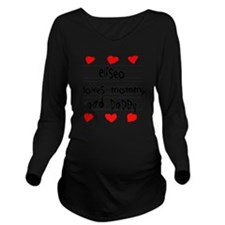 Eliseo Loves Mommy a Long Sleeve Maternity T-Shirt