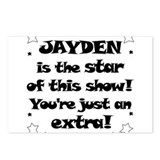 Jayden is the star Postcards (Package of 8)