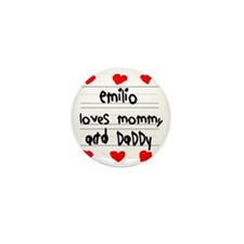Emilio Loves Mommy and Daddy Mini Button