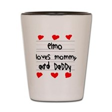 Elmo Loves Mommy and Daddy Shot Glass