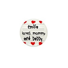 Emilia Loves Mommy and Daddy Mini Button