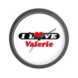 I Love Valerie Wall Clock