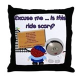 Scary Ride Throw Pillow
