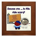 Scary Ride Framed Tile